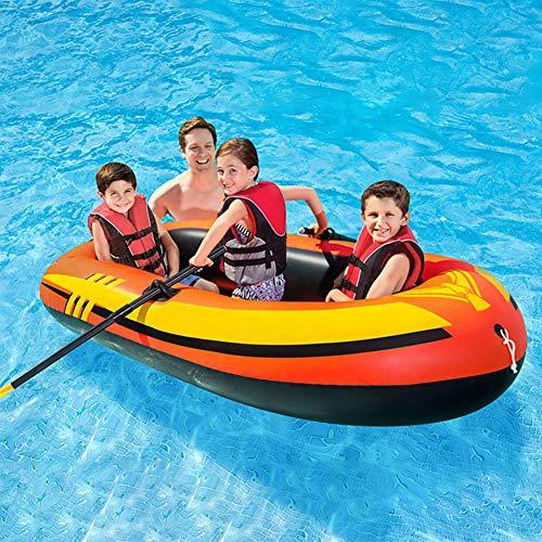 YZT QUEEN Kayak, Bote Inflable Engrosado De Kayak Inflable para 3 Personas 211Cm * 117Cm * 41Cm, Bote De Pesca De Kayak Recreativo Al Aire Libre con Pala Y Bomba De Aire