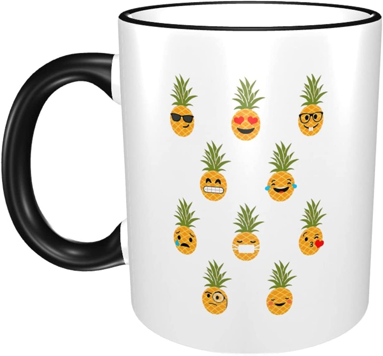 Pineapple Pattern Max 52% OFF 11oz Large National products Coffee Ceramics Fashion Mugs Print