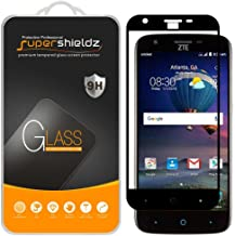 (2 Pack) Supershieldz for ZTE Warp 7 Tempered Glass Screen Protector, (Full Screen Coverage) Anti Scratch, Bubble Free (Black)