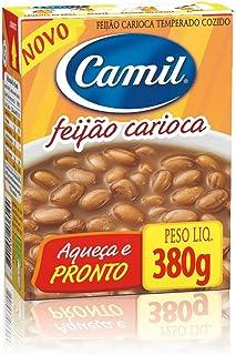 Camil Feijao Pronto Carioca Temperado Cozido Com Tempero ( Brown Beans With Seasoning ) Net.Wt 380g