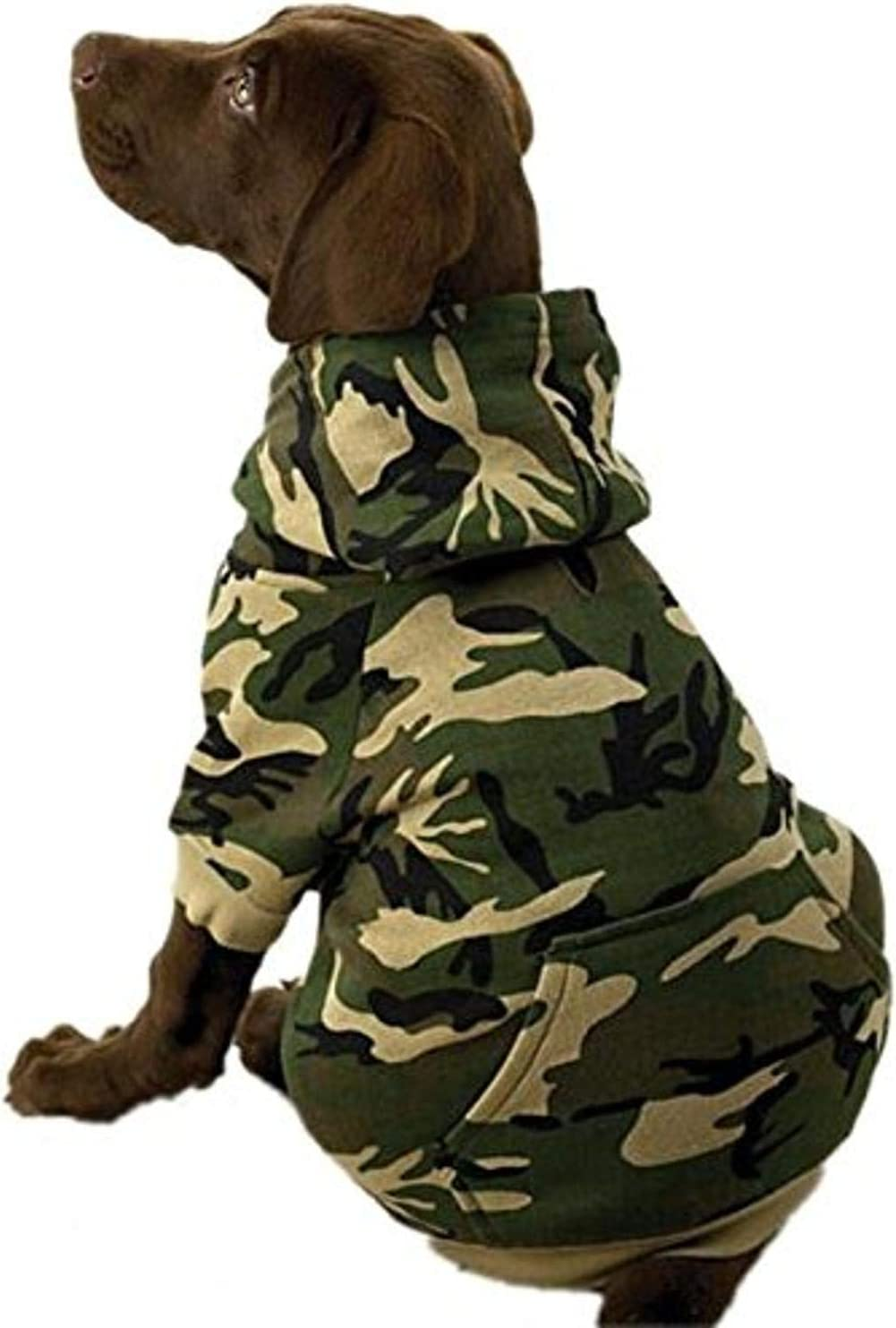 ! Super beauty product restock quality top! Oakland Mall Casual Canine Cotton Hoodie Dog Camo