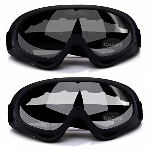 Baiyu Windproof Ski Goggles Glasses Motorcycle Eyewear Protective Safety Sunglasses for Snowmobile Motocross Riding Snowboard Sports Adults UV-Protection with Frame Adjustable Band TPU