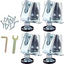 Heavy Duty Leveler Poten, 4 Pack Heavy Duty MeubelLevelers, Stalen nivellering Voeten met borgmoeren, Verstelbare MeubelLe...