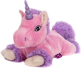 Habibi Premium–Unicornio Rosa–Lila purpurina Cuerno, cojín de calor extraíble