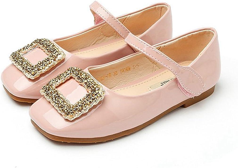 CYBLING Girls Square-Toe Ballet Dress Shoes Princess Mary Jane Flats (Toddler/Little Kid/Big Kid)