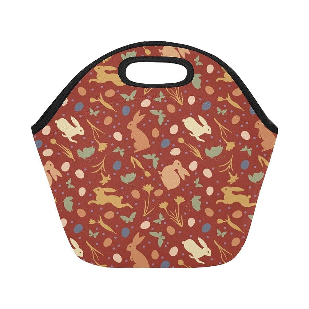 変な梨拘束するCWSGH ランチバッグ 赤い 小柄うさぎや美しい花 弁当袋 お弁当入れ 保温保冷 トート 弁当バッグ 大容量 トートバッグ