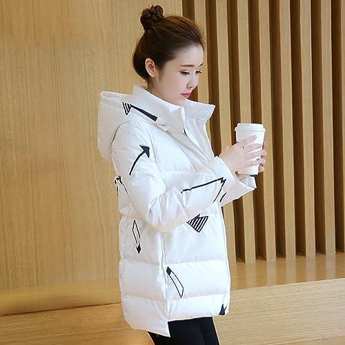 LJHA Mme Down Jacket Veste Longue à Capuche épaissie Doudoune 2 Couleurs Disponibles Taille en Option Manteau (Couleur   B, Taille   L)