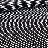 Schickliesel Jersey Stoff Meterware Basic Stripes (schwarz)