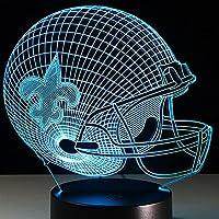 New 3D LED New Orleans Illusion Football Helmet Night Light