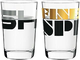 Ritzenhoff Next Shot Schnapsglas 2er Set 3560004 3560005 Pentgram 25 Jahre Jubiläumskollektion Frühjahr 2018 mit 2 Glasuntersetzer