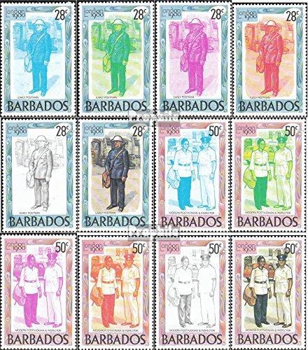 Barbade mer.-no.: 502-513 (complète.Edition.) 1980 Exposition philatélique (Timbres pour Les collectionneurs) Uniformes / Costumes