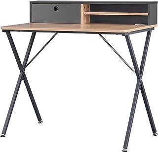 WOLTU TS122hei Table de Bureau Industriel en Panneaux de Particules et Acier, Table de Travail Table d'ordinateur Table de...
