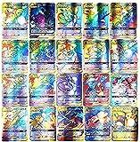 Cartas Pokemon, AUMIDY 100 Piezas Poke-Mon Cartas, 95GX Cartas + 5Mega Cartas, Poke-Mon Trading Cards, Tarjetas de Poke-Mon, Cartas Coleccionables, Trainer Cartas, Mejor Regalo Infantil