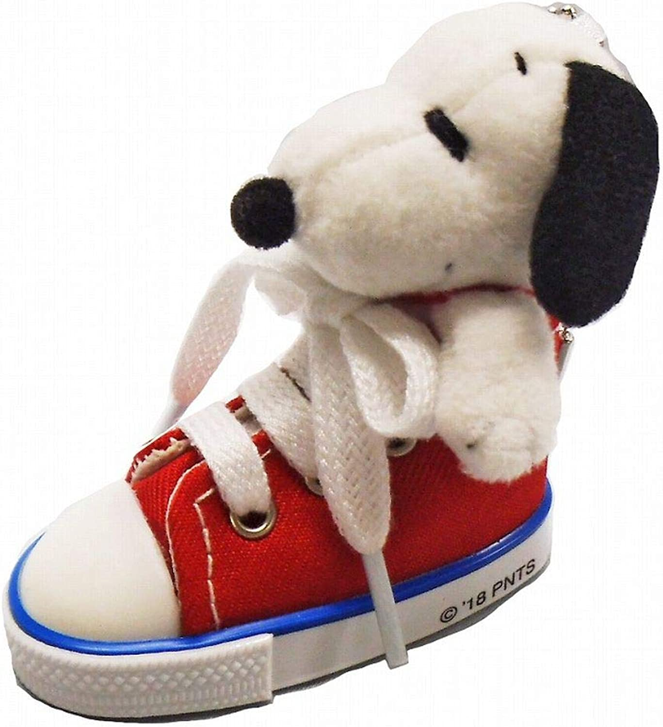 Snoopy in Sneakers Key Charm Mascot Red