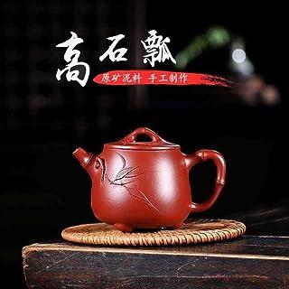 HaiNing Zheng Hand-authentic teapot cup tea set handmade household teapot ladle Dahongpao Takaishi (Color : Purple mud)