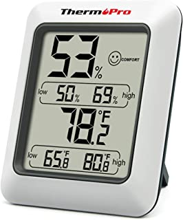 ThermoPro TP50 Digital Hygrometer Indoor Thermometer Room Thermometer and Humidity Gauge..