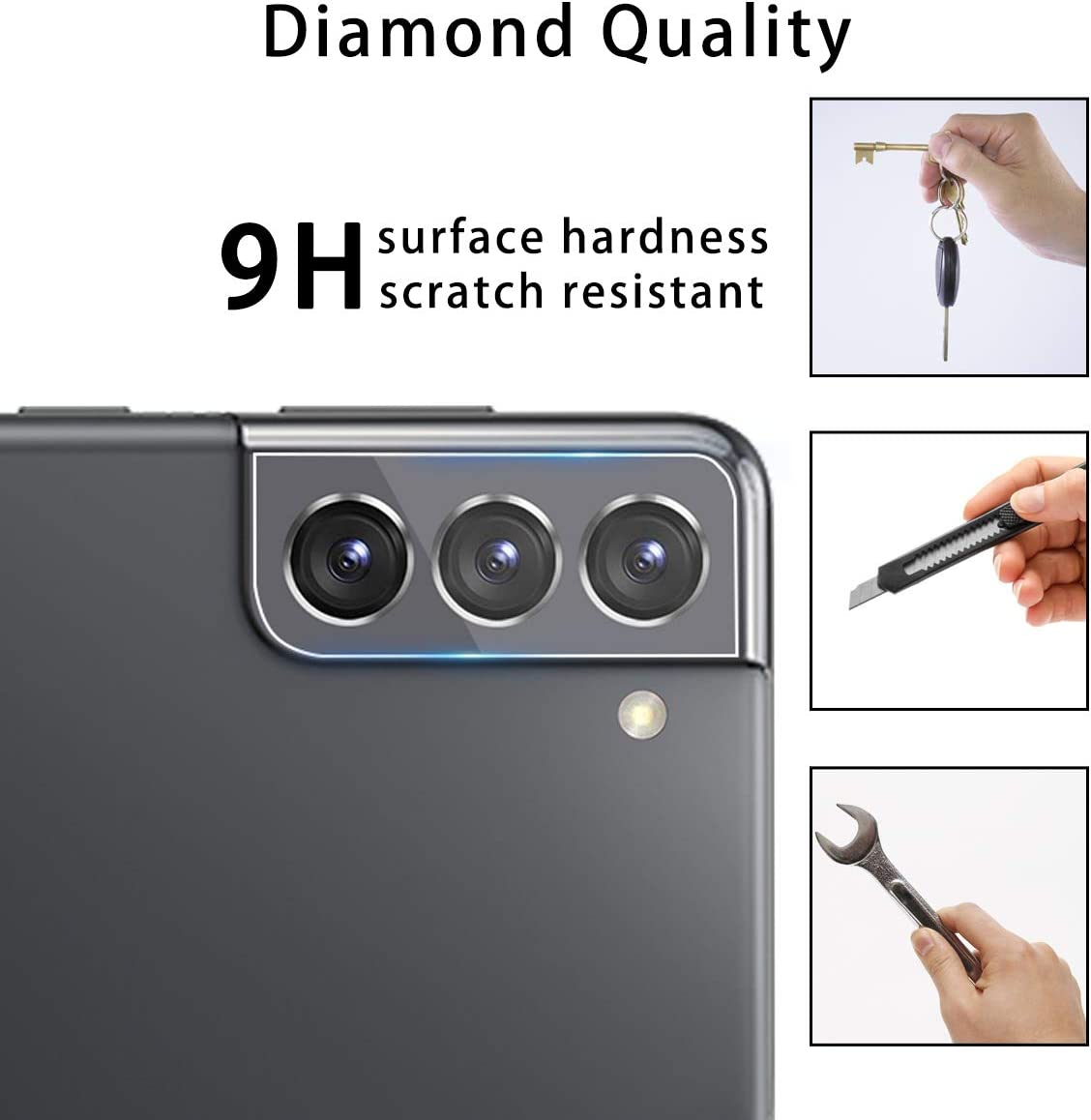 Casetego for Galaxy S21 5G Camera Lens Protector, 3 Pack Thin Transparent Clear Camera Tempered High Definition Camera Lens Protector for Samsung Galaxy S21 5G 6.2 inch,Transparent