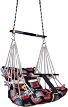 Raawan Cotton Swing for Kids, Home Garden Jhula for Baby with Safety Belt Print and Color May Vary