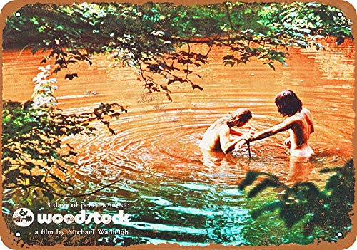 Woodstock Movie Metall Blechschild Retro Metall gemalt Kunst Poster Dekoration Plaque Warnung Bar Cafe Garage Party Game Room Hauptdekoration