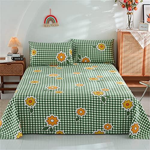 Ropa De Cama, Textiles para El Hogar Patrón De Flores Sábana Funda De Almohada Juego De 3 Piezas Cómodo, Transpirable Y Fácil De Limpiar 200x230cm