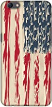 AMZER Slim Fit Handcrafted Designer Printed Snap On Hard Shell Case Back Cover for Oppo F3 Plus - USA Flag- Paint Splashes HD Color, Ultra Light Back Case