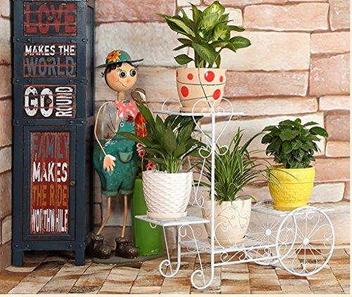 balcon voyantes Salon de fleurs de fer salon balcon intérieur étagères à fleurs multi - étages Plantes d'extérieur Présentoir ( taille : 76*28*70cm )