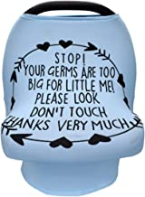 Baby Nursing Cover,Baby Car Seat Canopy,No Touch Sign Infant Stroller Cover Breastfeeding Cover,Baby Shower Gift (Blue)