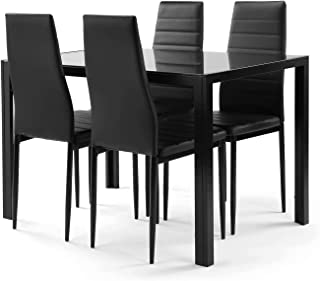 Meihua Kitchen Table and Chairs for 4 Dining Table Set...