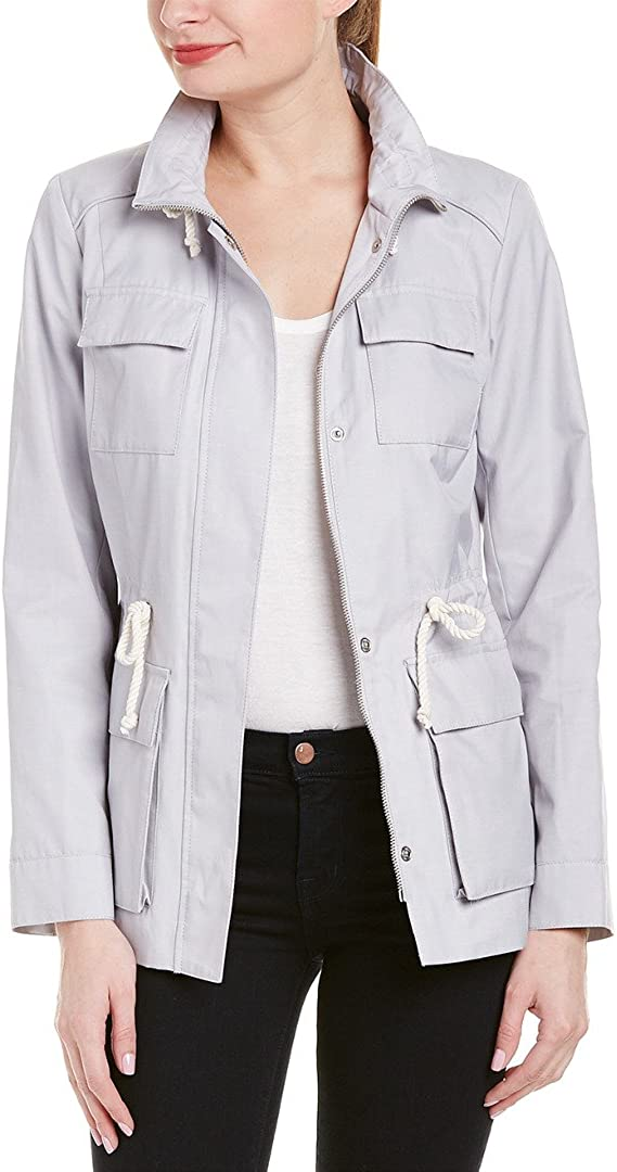 Cole Haan Women's Safari Jacket with Stand Collar