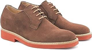 Zapatos de Hombre con Alzas Que Aumentan Altura hasta 7 cm. Fabricados EN Piel. Modelo Corby Moka