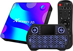Android TV Box 11, RK3318 USB 3.0 Ultra HD 4K HDR 4GB RAM 64GB ROM 2.4G 5.8G Dual Band WiFi with BT 4.1 WiFi 100M Ethernet...