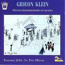 Gideon Klein: Oeuvres Instrumentales et Vocales