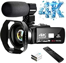 4K Video Camera Ultra HD Camcorder 48.0MP IR Night Vision...