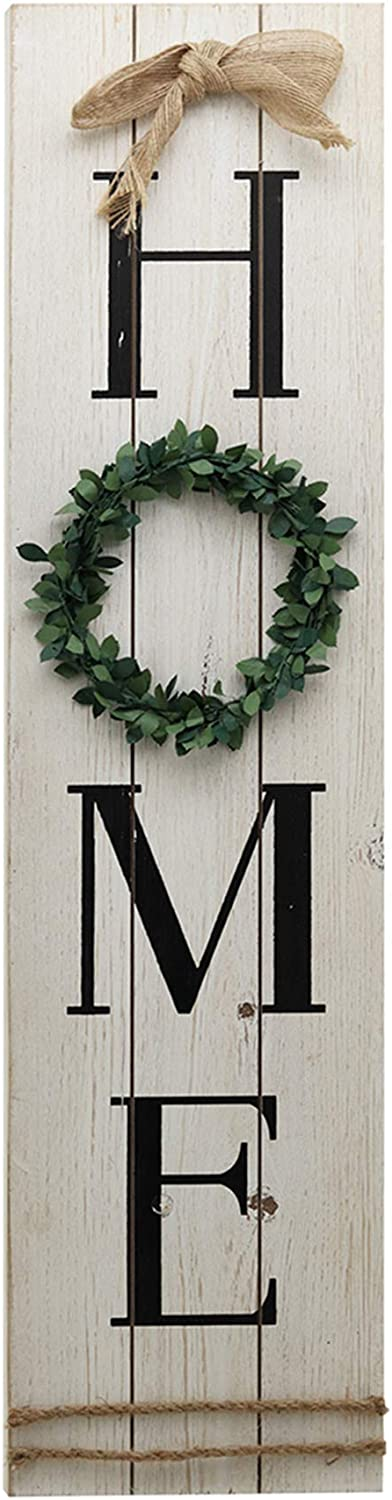 NO BRAND Rustic Large Home quality assurance Sign for Decor Vertical O Max 56% OFF with Wreath
