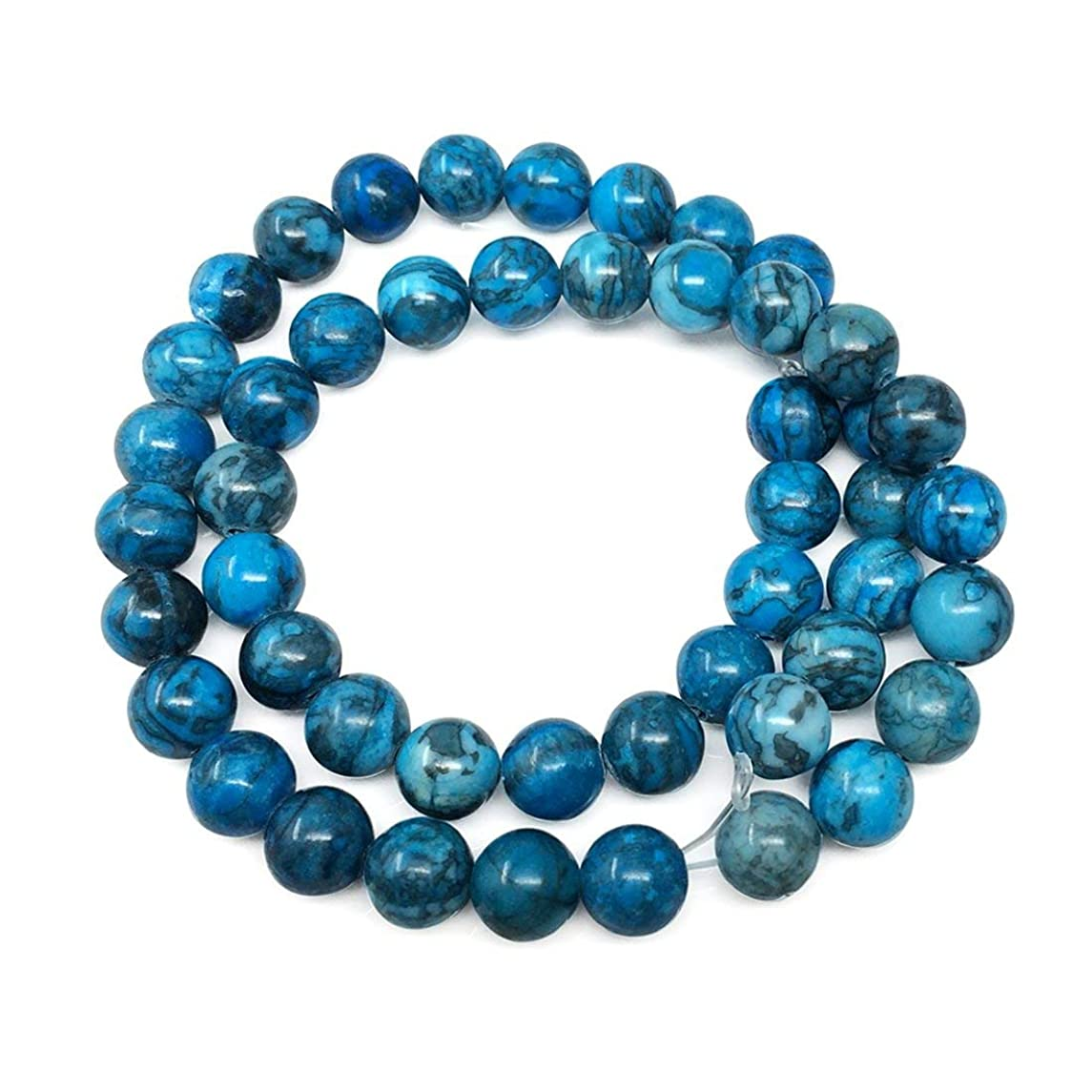 Top Quality Natural Blue Lace Jasper Gemstone 8mm Round Loose Gems Stone Beads 15.5