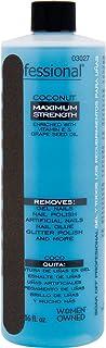 Shellac & Gel 16oz Coconut Scented Vitamin E Nail Polish Remover with Nail File Removes All Nail Polish & Fake Nails