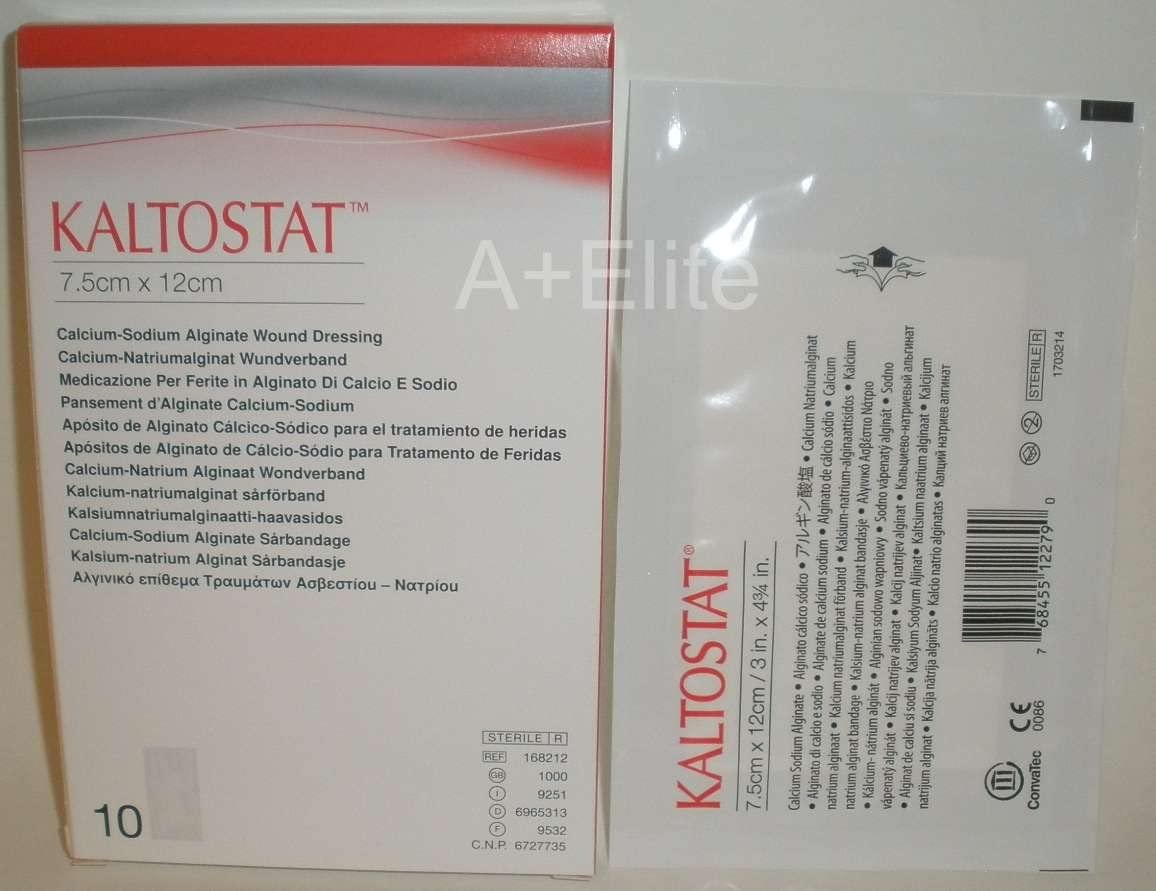 ConvaTec Cheap mail order shopping KALTOSTAT Limited time for free shipping Calcium-Sodium Alginate 7.5cm Dressing Wound
