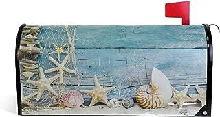 Brilliant Starfish Beach Mailbox Magnetic Cover Medium Large Capacity Post Box Covers 25.5 x 20.8 inch Oversized