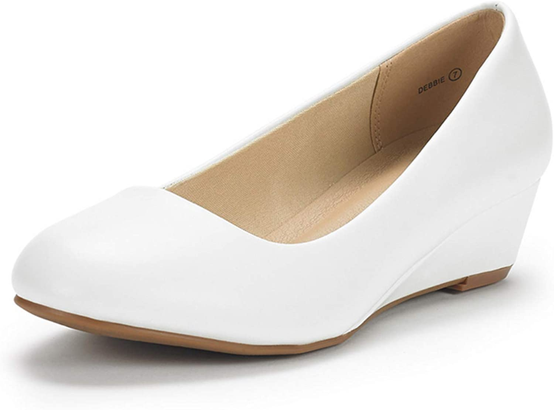 激安セール DREAM 激安通販専門店 PAIRS Women's Debbie Mid Shoes Wedge Heel Pump