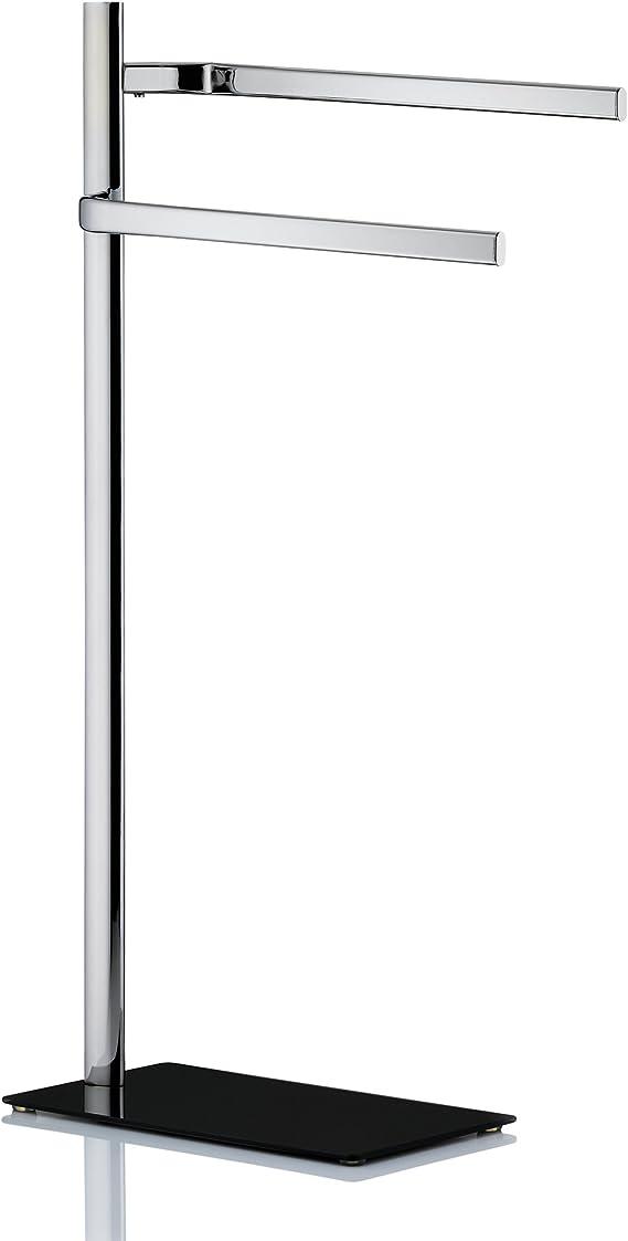 Kela Handtuchhalter 2 Arme Sicherheitsglas Metall 85 cm Amatis Schwarz