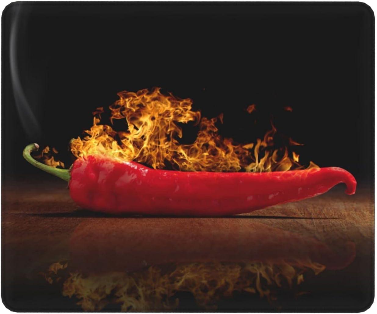 Charlotte Mall Fire Pepper Chili Mouse Max 77% OFF Pad Rubber Mat Stitc Non-Slip with