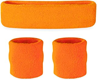Headband Wristband Sweatband Set - Sports Sweatbands for Head & Wrists