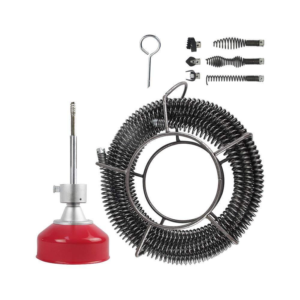 Hukoer - Máquina de limpieza de tuberías de desagüe de 1,9 a 10,16 ...