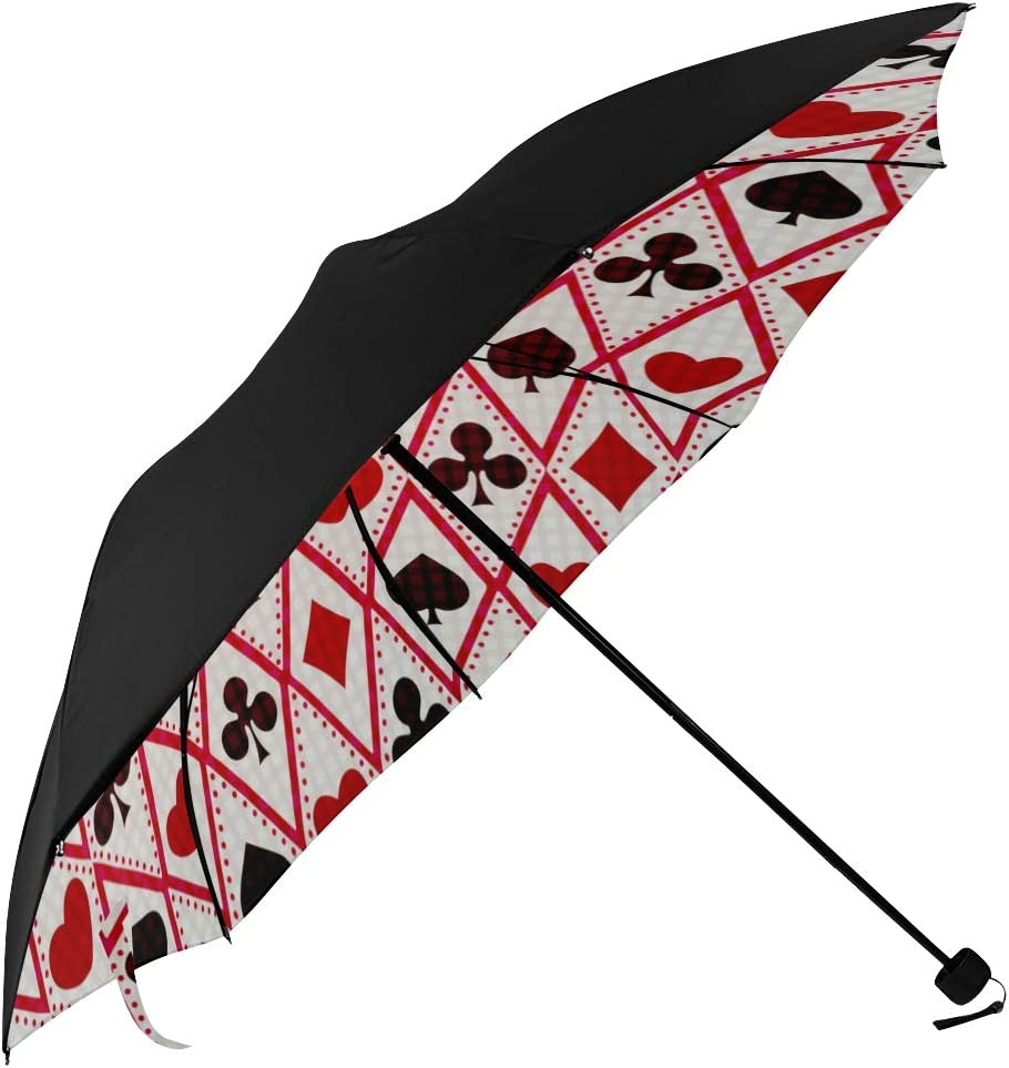 Sun Umbrella Set Of Playing Cards Underside Printin Symbol Suits Same Max 42% OFF day shipping
