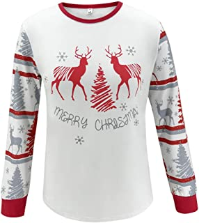 Family Christmas Pyjamas Set,Long Sleeve Printed T-Shirt+Pants Pajamas,Men,Women,Kid Blouse Tops and Pants Fashion Xmas Cl...