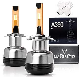 MAJOREYES LED Headlight Bulbs,H7-60W-10000LM-6000K,Extremely Bright Conversion Kit,2 Years Warranty
