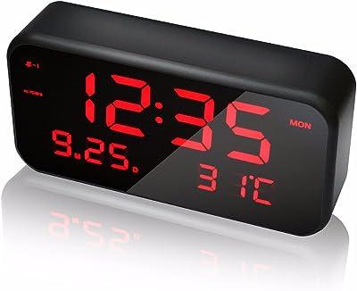 JCHUNL Nueva CL-003 Pantalla Grande LED Despertador Multifuncional de música Digital con Fecha de