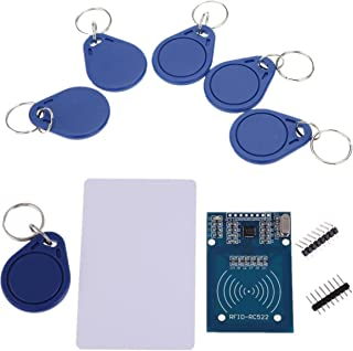 IZOKEE Card Reader Module for RFID RC522 with S50 13.56MHz Smart Card Chip Key Ring for Arduino for Raspberry Pi (1 Set)