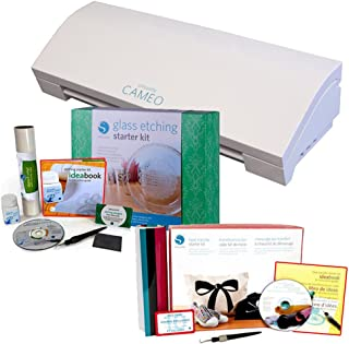 Silhouette Cameo 3 Bluetooth with Silhouette Heat Transfer and Silhouette Glass Etching Starter Kits