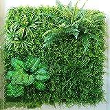 WENZHEjiahua Artificiel Lierre Plantes Feuille Vigne Suspendue Feuilles Mur Végétal Balcon Décoration, 6 Styles, 1㎡